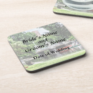 Boston MA - Boston Public Garden Bridge Drink Coasters