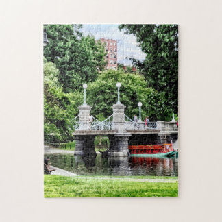 Boston MA - Boston Public Garden Bridge Jigsaw Puzzle