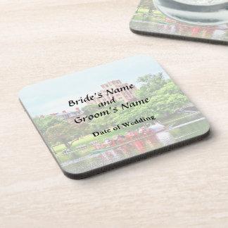 Boston MA - Boston Public Garden Wedding Supplies Drink Coasters