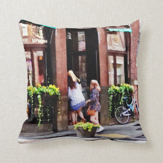 Boston MA - Cafe in Little Italy Throw Pillow