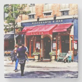 Boston MA - Hanover Street North End Stone Beverage Coaster
