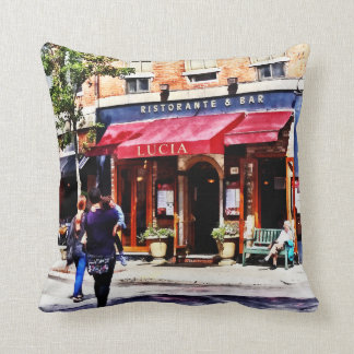 Boston MA - Hanover Street North End Throw Pillow