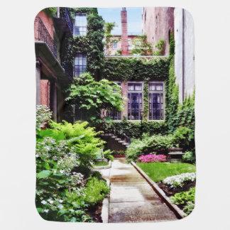 Boston MA - Hidden Garden Receiving Blanket