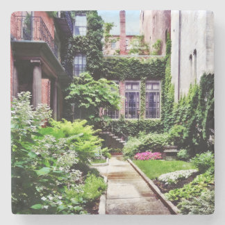Boston MA - Hidden Garden Stone Coaster
