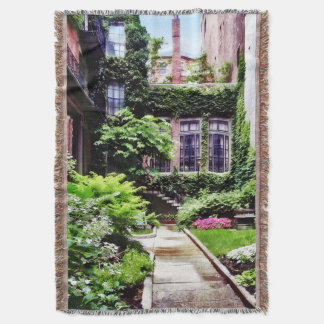 Boston MA - Hidden Garden Throw Blanket