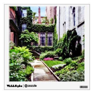 Boston MA - Hidden Garden Wall Sticker