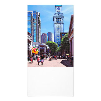 Boston MA - Quincy Market Customized Photo Card