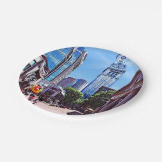 Boston MA - Quincy Market Paper Plate