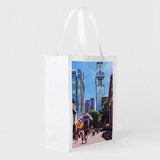 Boston MA - Quincy Market Reusable Grocery Bag