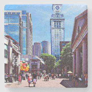 Boston MA - Quincy Market Stone Coaster