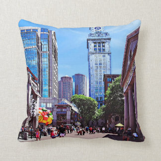 Boston MA - Quincy Market Throw Pillow