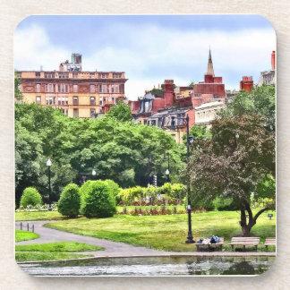 Boston MA - Relaxing In Boston Public Garden Drink Coaster