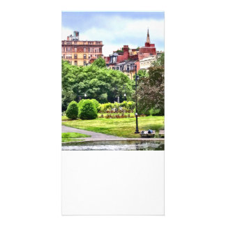 Boston MA - Relaxing In Boston Public Garden Photo Card Template