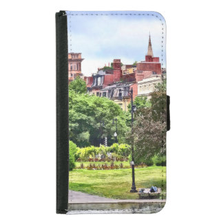 Boston MA - Relaxing In Boston Public Garden Samsung Galaxy S5 Wallet Case
