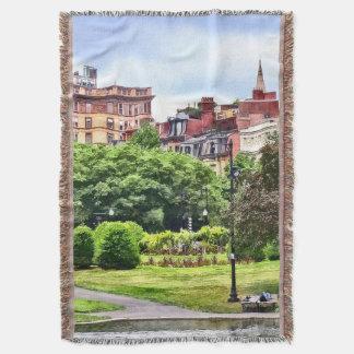 Boston MA - Relaxing In Boston Public Garden Throw Blanket