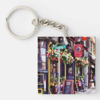 Boston MA - Restaurants on Creek Square Keychain