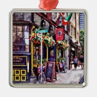 Boston MA - Restaurants on Creek Square Metal Ornament