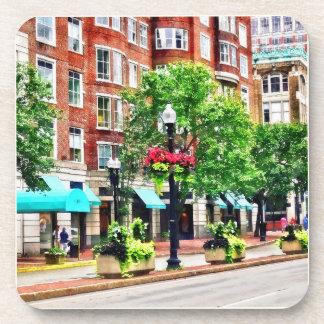 Boston MA - Shops Along Boyleston Street Beverage Coaster