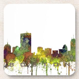 Boston Mas .Skyline Safari Buff Coaster