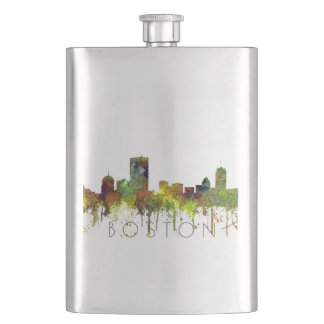 Boston Mas .Skyline Safari Buff Flask