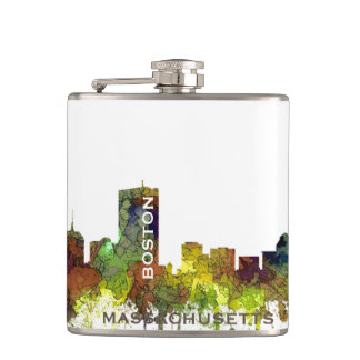 Boston Mas .Skyline Safari Buff Hip Flask