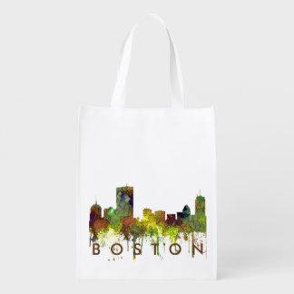 Boston Mas .Skyline Safari Buff Reusable Grocery Bag