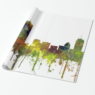 Boston Mas .Skyline Safari Buff Wrapping Paper
