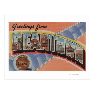 Boston, Massachusetts (Bean Town) Postcard