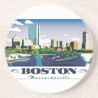 Boston, Massachusetts Beverage Coasters