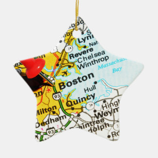 Boston, Massachusetts Ceramic Ornament