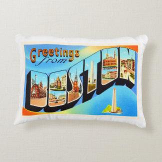 Boston Massachusetts MA Vintage Travel Souvenir Accent Pillow