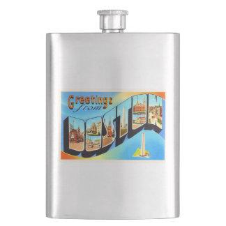 Boston Massachusetts MA Vintage Travel Souvenir Flasks