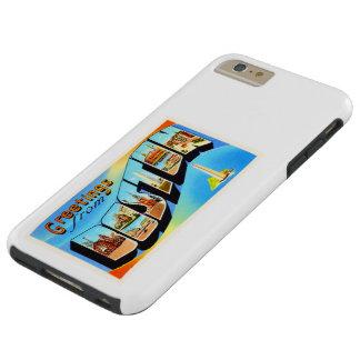 Boston Massachusetts MA Vintage Travel Souvenir Tough iPhone 6 Plus Case