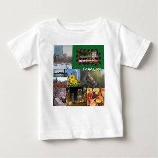 Boston, Massachusetts Photo Collage Baby T-Shirt
