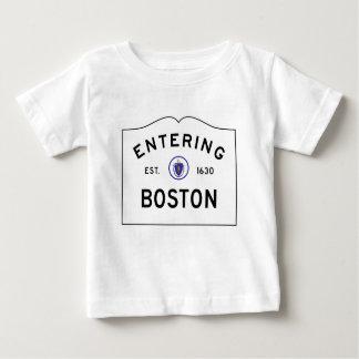 Boston Massachusetts Road Sign Baby T-Shirt