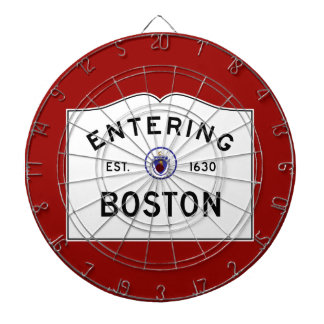 Boston Massachusetts Road Sign Dart Board