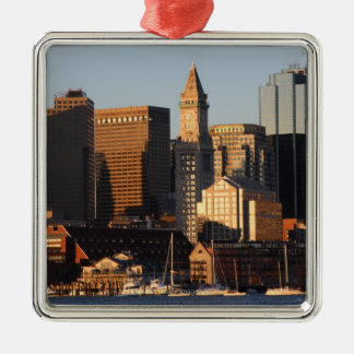 Boston, Massachusetts skyline 5 Metal Ornament