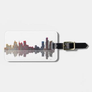 Boston Massachusetts Skyline Luggage Tag