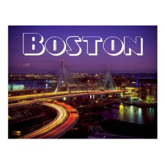 Boston Massachusetts Skyline USA - Zakim Bridge Postcard