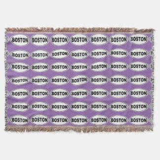 Boston Massachusetts Throw Blanket