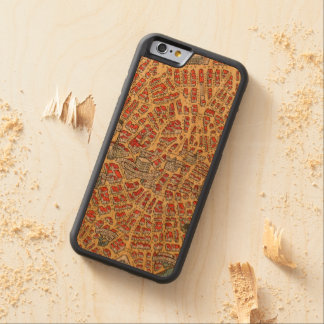Boston Massachusetts Vintage Map of 1929 Carved Cherry iPhone 6 Bumper Case