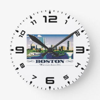 Boston, Massachusetts Wall Clock