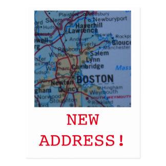 Boston New Address announcement Postcard