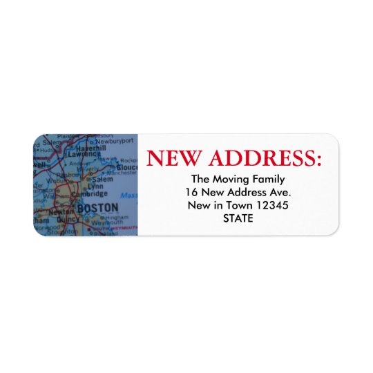 Boston New Address Label