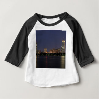 Boston Night Skyline Baby T-Shirt