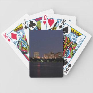 Boston Night Skyline Bicycle Playing Cards