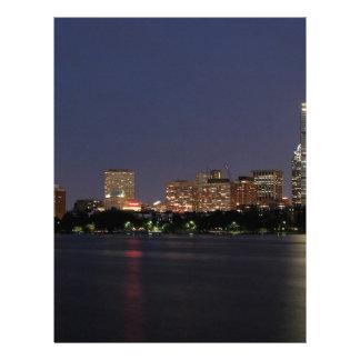 Boston Night Skyline Letterhead