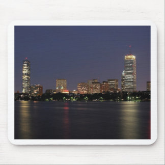 Boston Night Skyline Mouse Pad
