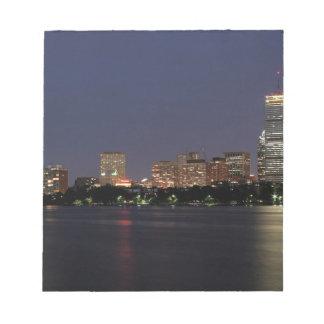 Boston Night Skyline Notepad