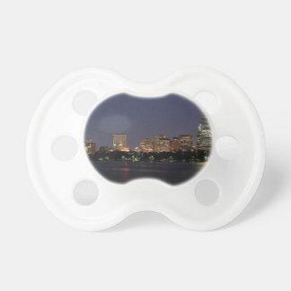 Boston Night Skyline Pacifier